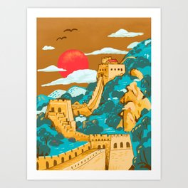 Great Wall of China by Cindy Rose Studio Art Print