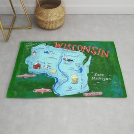 WISCONSIN map Rug