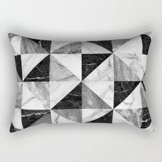 Marble triangles Rectangular Pillow