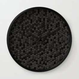 Pattern of black cylinders Wall Clock