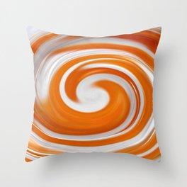 Lollipop Swirls - Orange Throw Pillow