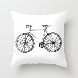 bycicle Throw Pillow