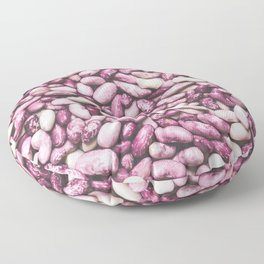 Shiny white and purple cool beans Floor Pillow