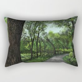 Shaded Bike Path Rectangular Pillow