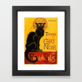 Le Chat Noir The Black Cat Art Nouveau Framed Art Print