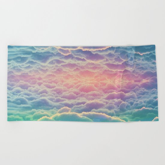 INSIDE THE CLOUDS Beach Towel
