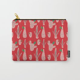 Mid Mod Cactus Red Carry-All Pouch