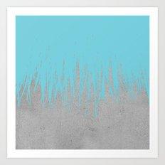 Concrete Fringe Aqua Art Print