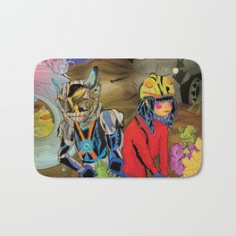 Living In a World of Monsters Bath Mat