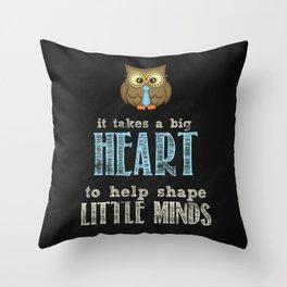 Big heart blue Throw Pillow