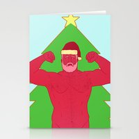 santa Stationery Cards featuring Santa by Mavekk