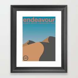 endeavour single hop Framed Art Print