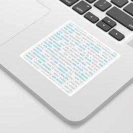 Blue Web Design Keywords Poster Concept Sticker
