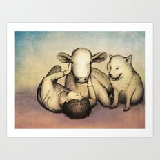 Brothers from the same Mother Art Print