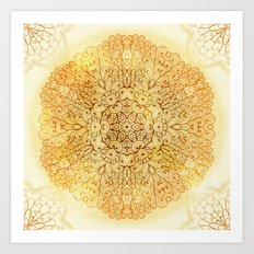 Hand Drawn Floral Mandala 08 Art Print