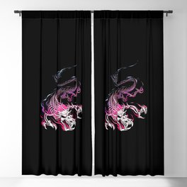 Chinese Skull Dragon Blackout Curtain