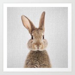 Rabbit - Colorful Art Print