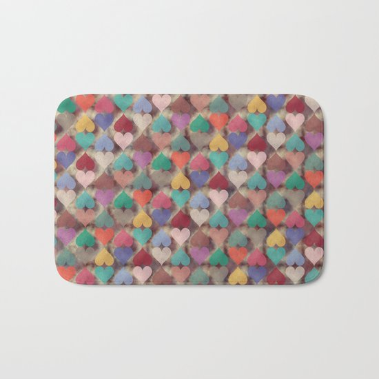 Colorful Love Pattern XI Bath Mat