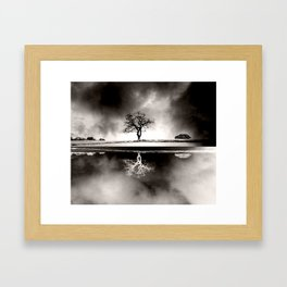 SOLITARY REFLECTION Framed Art Print