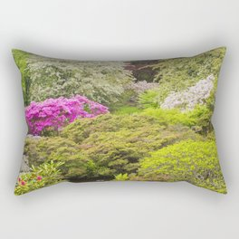 Asticou Azelea Garden, Northeast Harbor, Mount Desert Island Maine Rectangular Pillow