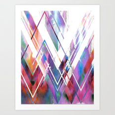 JAX Chevron Art Print