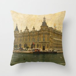 Haydarpasa Railway Station Throw Pillow