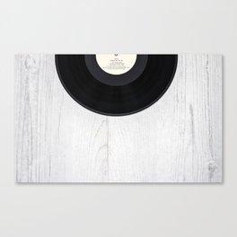 Black vintage vinyl record Canvas Print