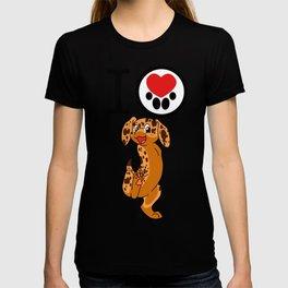 I Heart furBags - Dachshund T-shirt