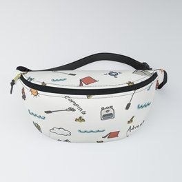 Adventure Pattern | Camping Pattern | Hiking Pattern | Hand Drawn Outdoors Pattern Fanny Pack