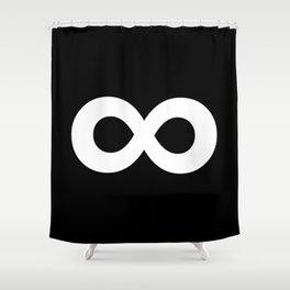 Infinity Symbol (White & Black) Shower Curtain