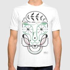 happy skull White MEDIUM Mens Fitted Tee