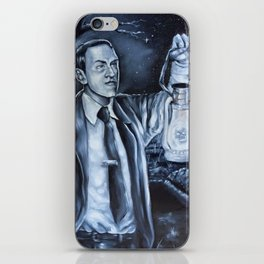 H.P.Lovecraft in Cemetery iPhone Skin
