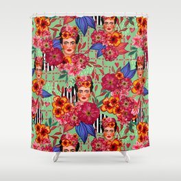 Frida Bouquet Shower Curtain