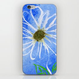 Abstract White Flower iPhone Skin