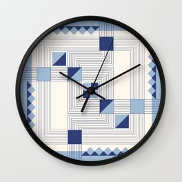 """Intersections"" Art Deco Collection Wall Clock"