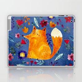 The Smart Fox in Flower Garden Laptop & iPad Skin
