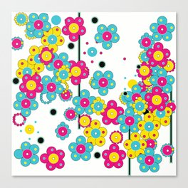 Flower Power Shower Canvas Print