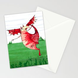 Welsh Dragon Stationery Cards