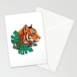 Monstera Tiger Stationery Cards