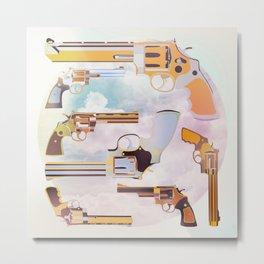 Revolver Metal Print