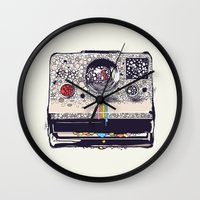 star Wall Clocks featuring COLOR BLINDNESS by Huebucket