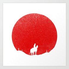 The Rising Sunset Art Print