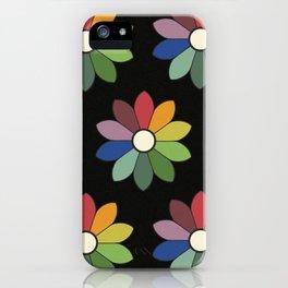 Flower pattern based on James Ward's Chromatic Circle (vintage wash) iPhone Case