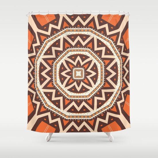 Mandalaic tiling Shower Curtain