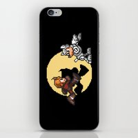 tintin iPhone & iPod Skins featuring Mega TinTin Man by 84Nerd
