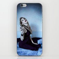 megan lara iPhone & iPod Skins featuring Lara by Lídia Vives