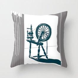 Rumplestiltskin - brother Grimm illustration Throw Pillow