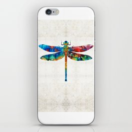 Colorful Dragonfly Art By Sharon Cummings iPhone Skin