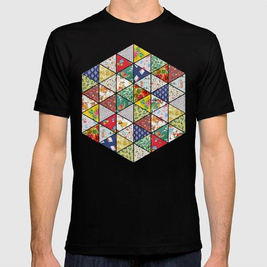 Geometric Floral Quilt T-shirt
