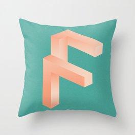 Futuristic F Throw Pillow